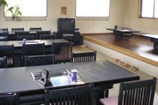 景ヶ島食堂のテーブル席